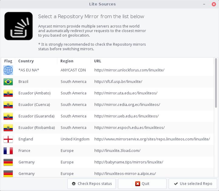 linux lite linux sources